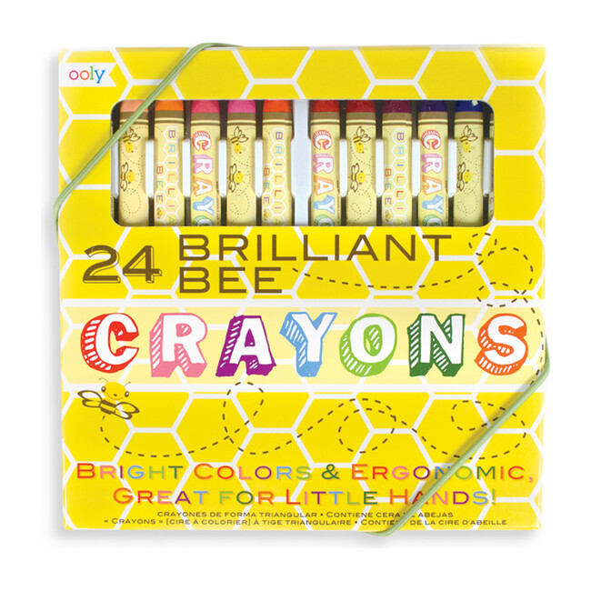 Brilliant Bee Crayons, 24 Pack