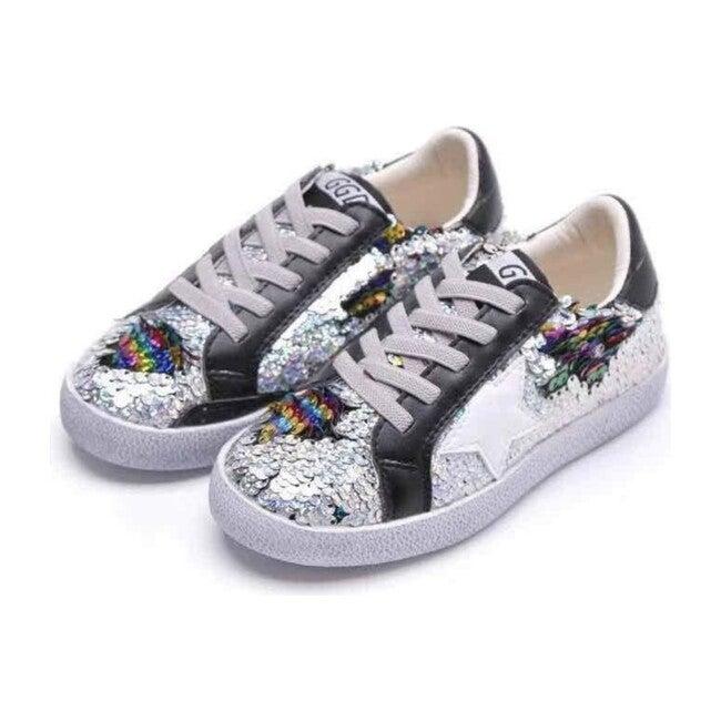Sequin Flip Star Sneakers, Midnight