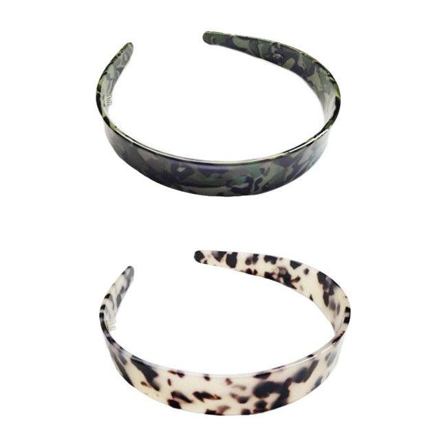 Tortoise Resin Headband Duo