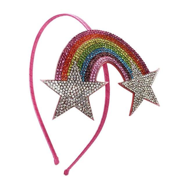 Rainbow Star & Star Emoji Thin Headband