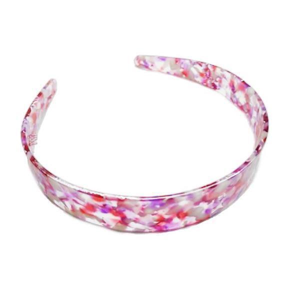 Pink Resin Headband Duo