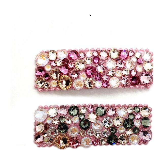 Pink Pearl Swarovski Crystal Hairclip
