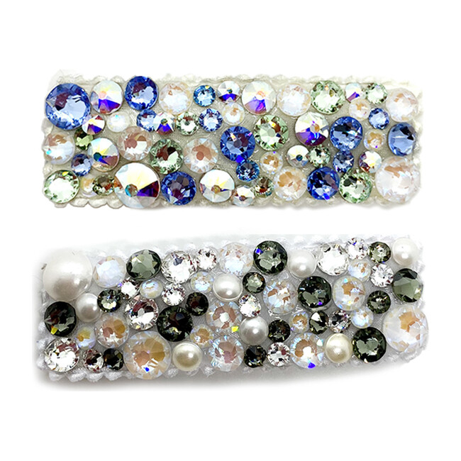 Blue Pearl Swarovski Crystal Hairclip