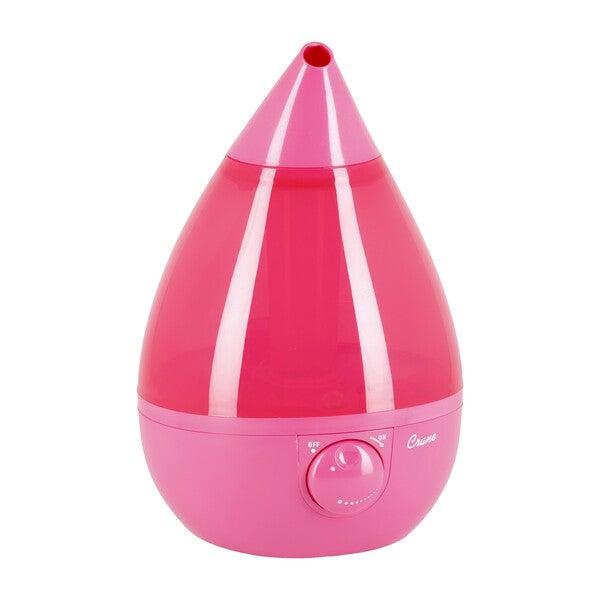 Ultrasonic Cool Mist Drop Shape Humidifier, Pink