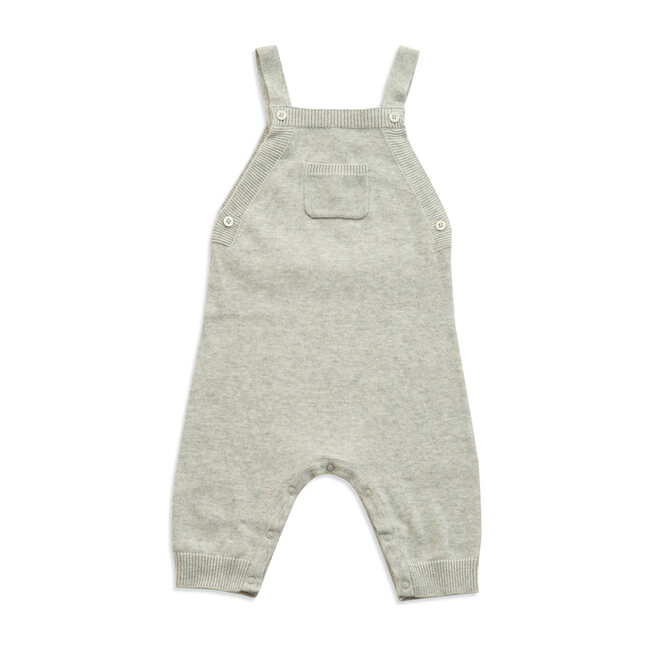 Knit Overall, Light Grey Heather