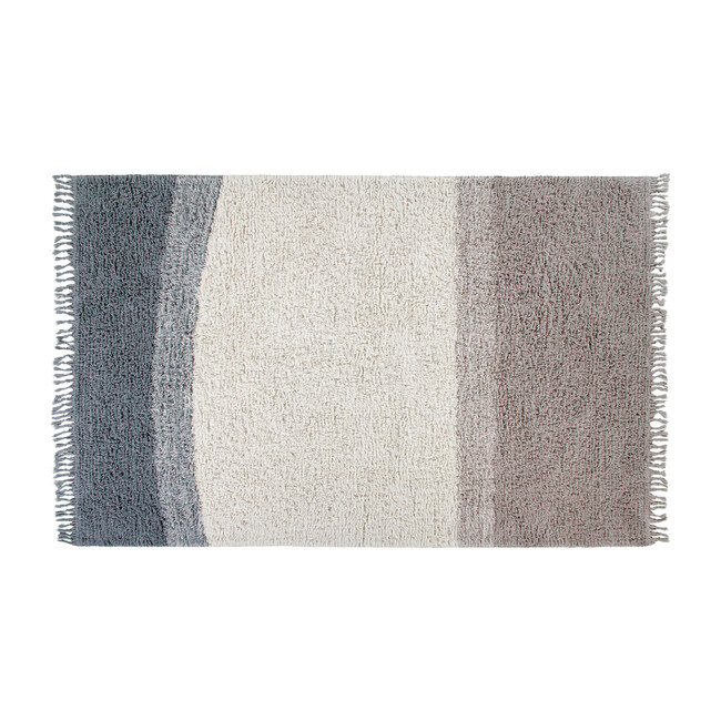 Into the Blue Woolable Rug, Smoke Blue Multi
