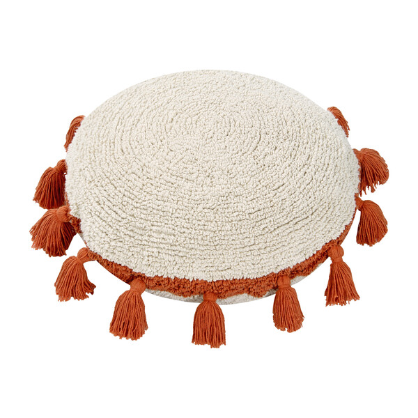 Circle Washable Pillow, Terracotta