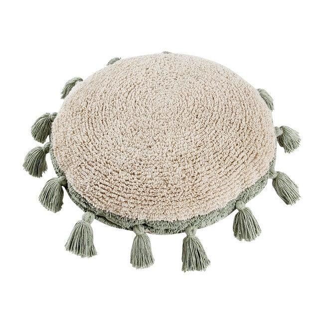 Circle Washable Pillow, Green