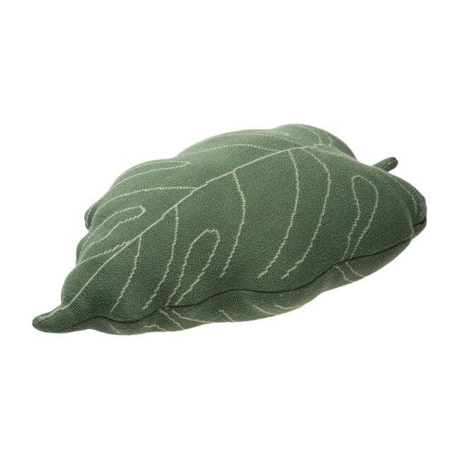 Knitted Cushion, Baby Leaf
