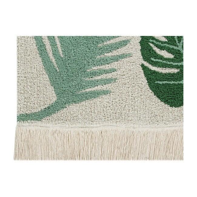 Tropical Washable Rug, Green