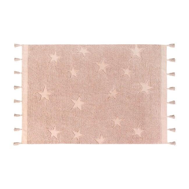 Hippy Stars Washable Rug, Pink