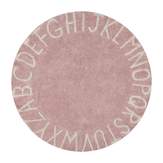 ABC Round Washable Rug, Vintage Nude/Natural