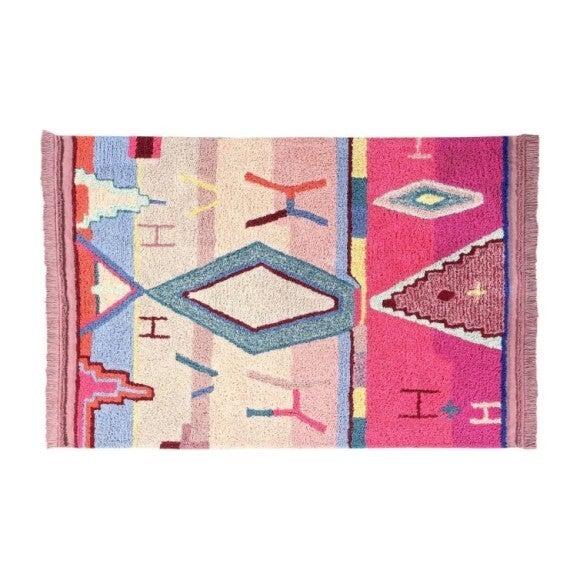 1001 Nights Washable Rug, Pink Multi