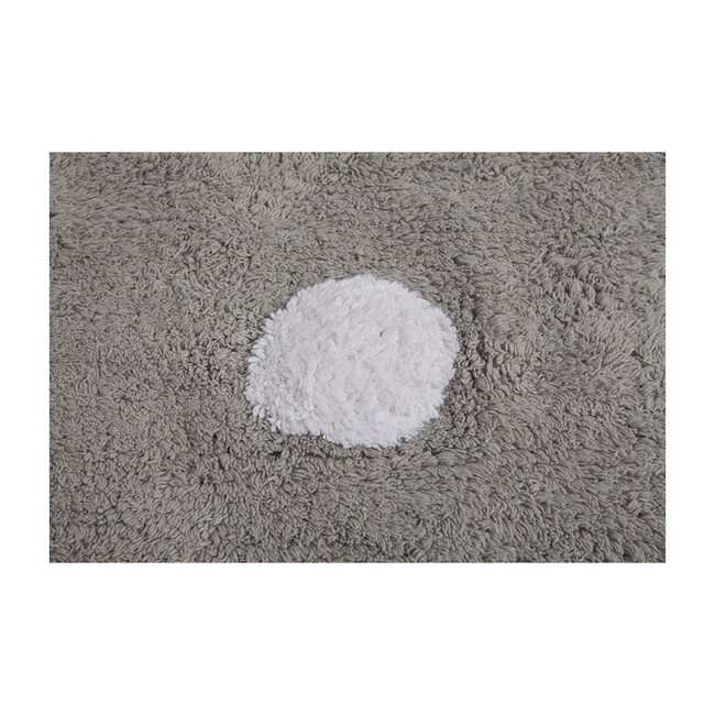 Polka Dots Washable Rug, Grey/White