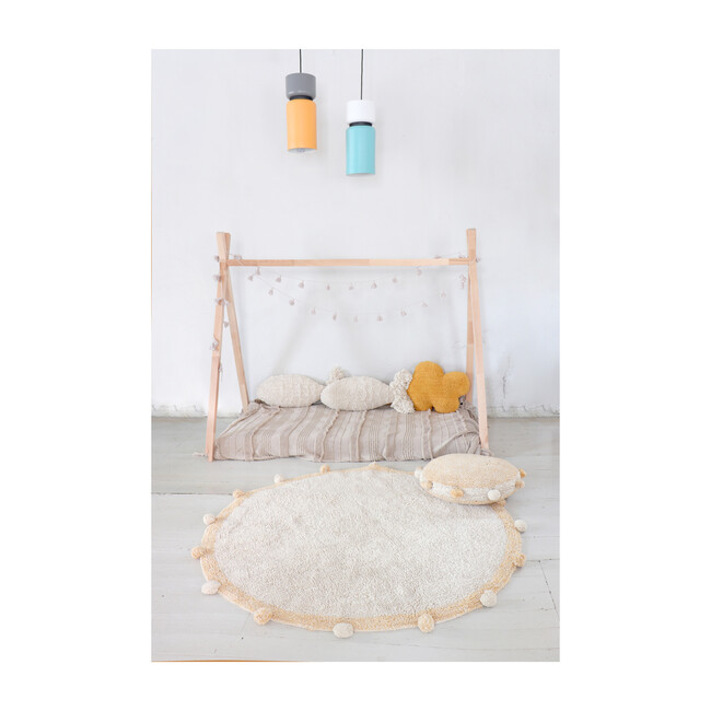 Bubbly Washable Rug, Natural/Honey