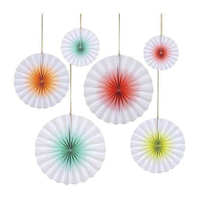 Neon Ombre Pinwheels