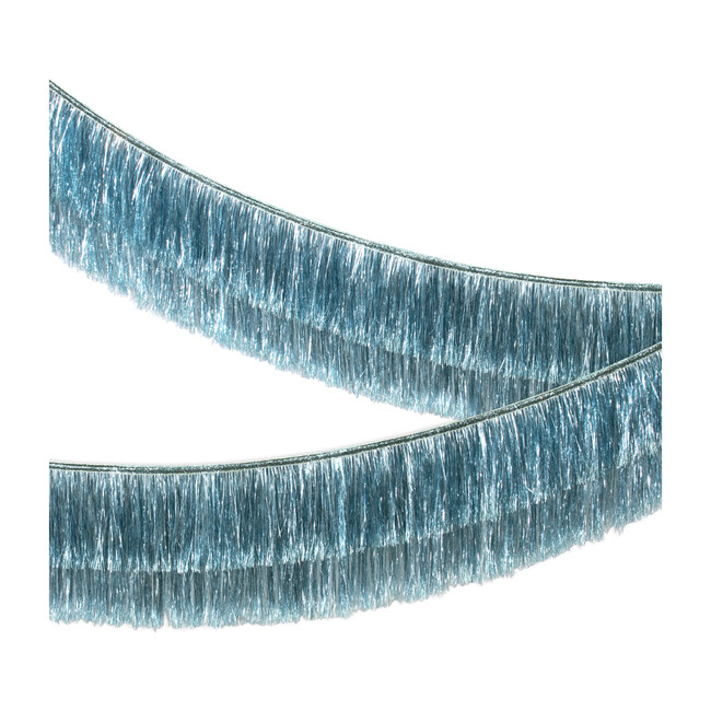 Blue Tinsel Fringe Garland