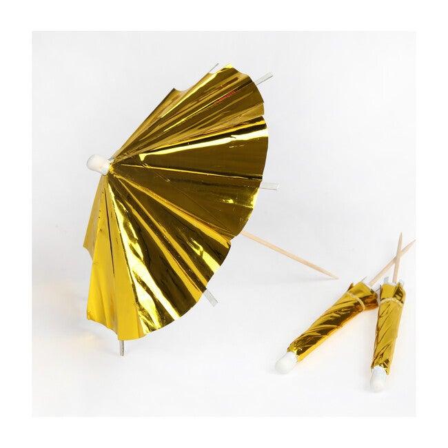 Gold Long Cocktail Umbrellas