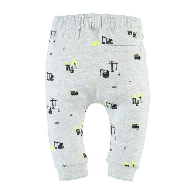 Little Houses Sweatpants, Light Grey Melee