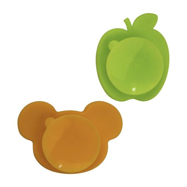 Kushies Silicone Feeding 5 PC Set, Marble & Citrus & Carrot