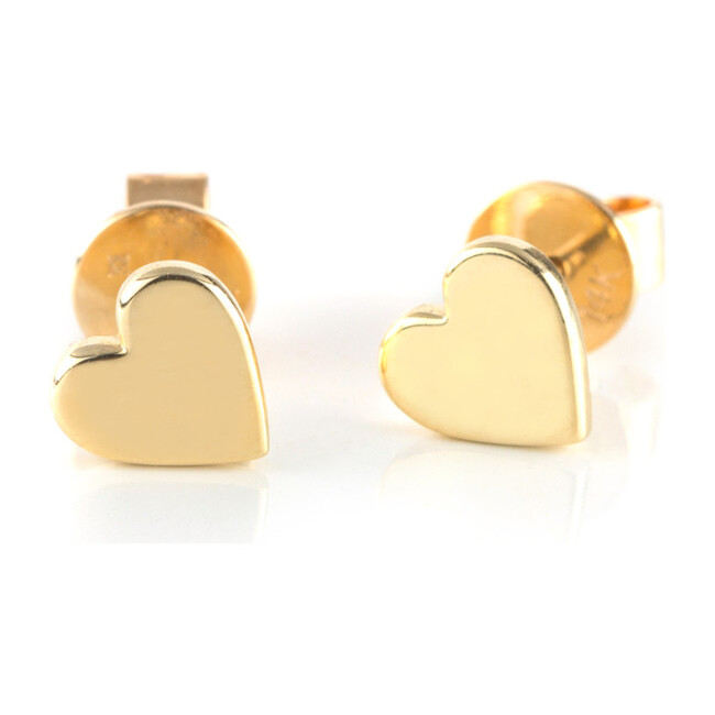 Solid Gold Love Studs