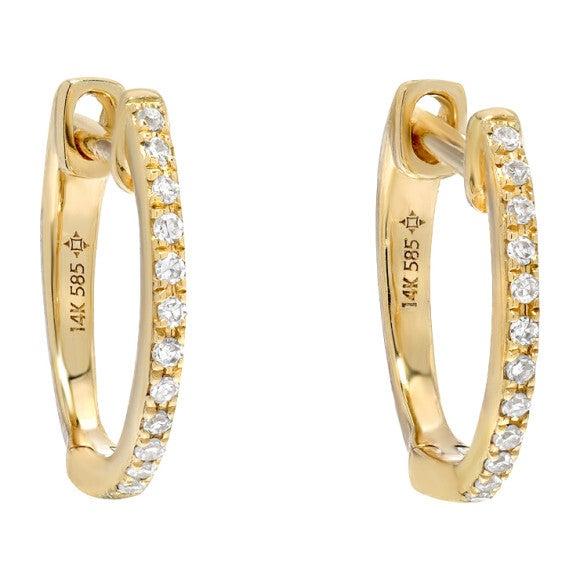 Diamond Huggie Earrings - Earrings - 1