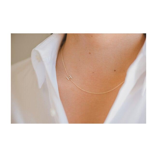 Diamond Asymmetrical Initial Necklace