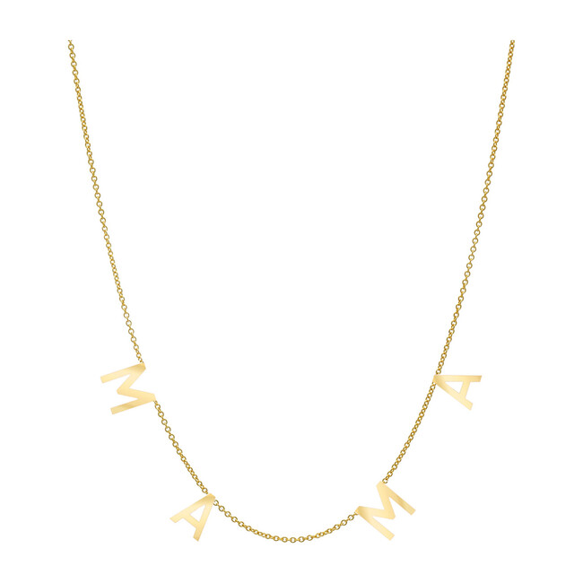 14k Gold Space Mama Necklace
