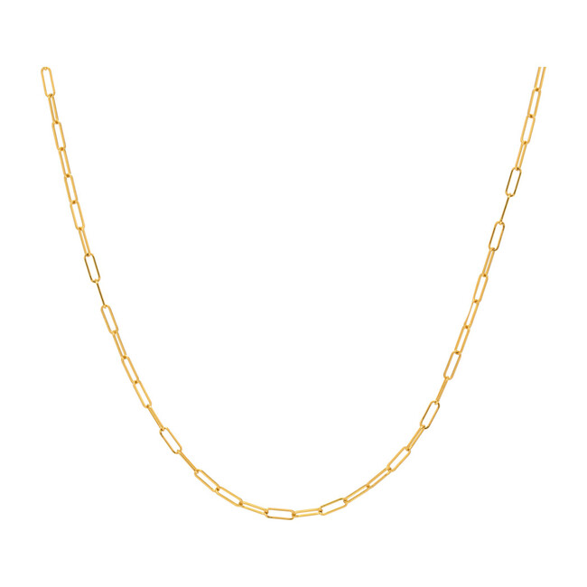 14k Gold Open Link Chain Necklace