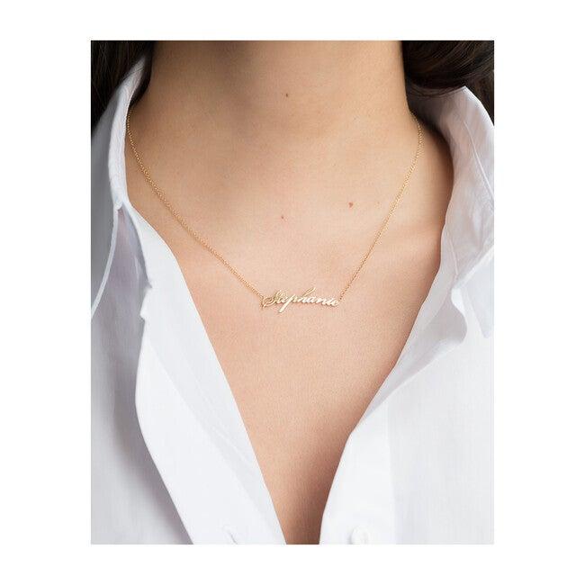 14k Gold Script Name Necklace