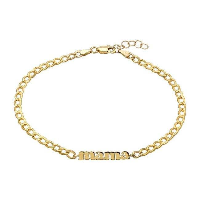 14k Gold Mama Cuban Link Bracelet