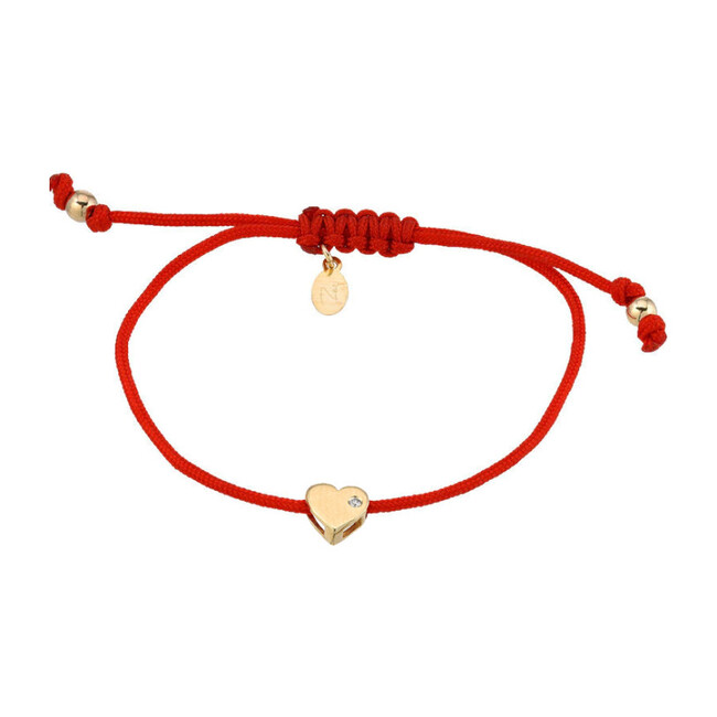 14k Gold Heart Fortune Bracelet