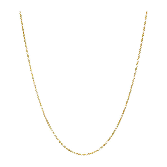 14k Gold Cable Link Chain Necklace - Necklaces - 1