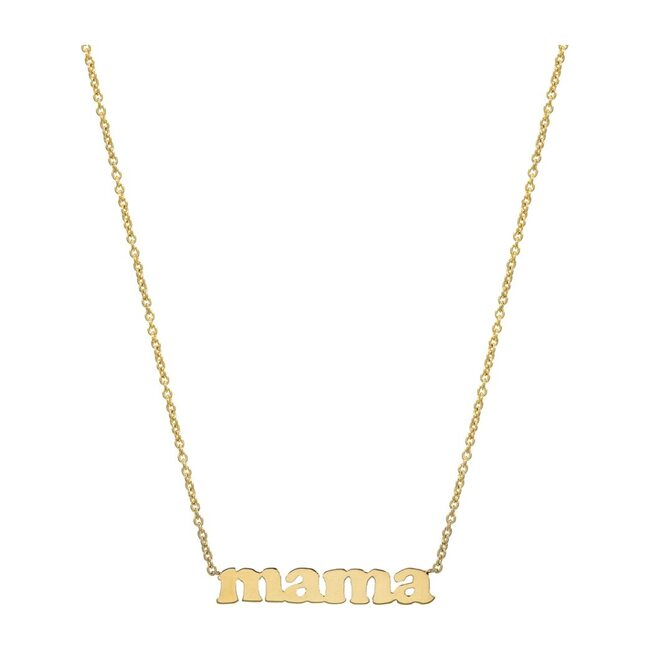 14k Gold Block Mama Necklace - Necklaces - 1