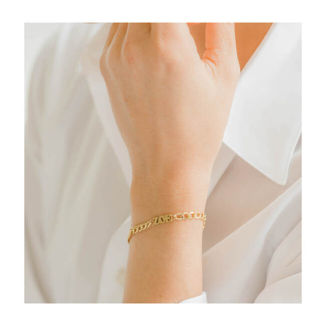 14k Gold Cuban Link Name Bracelet
