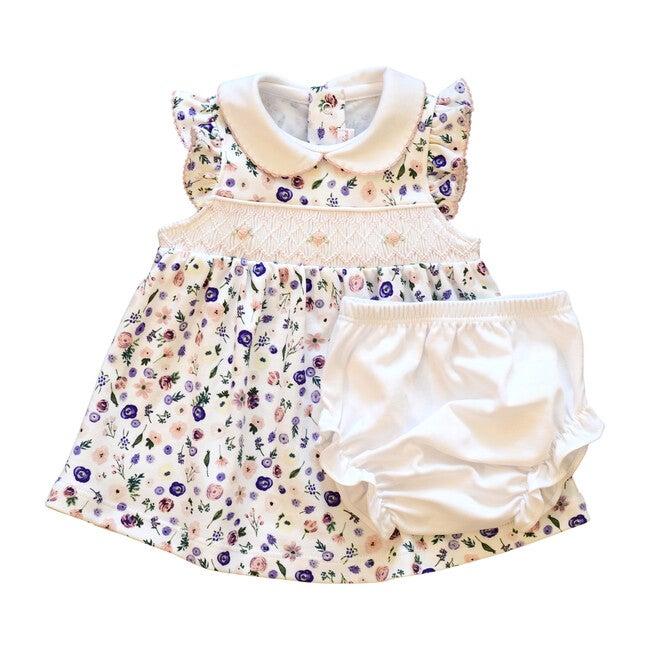 Clementine Purple Floral Smocked Dress