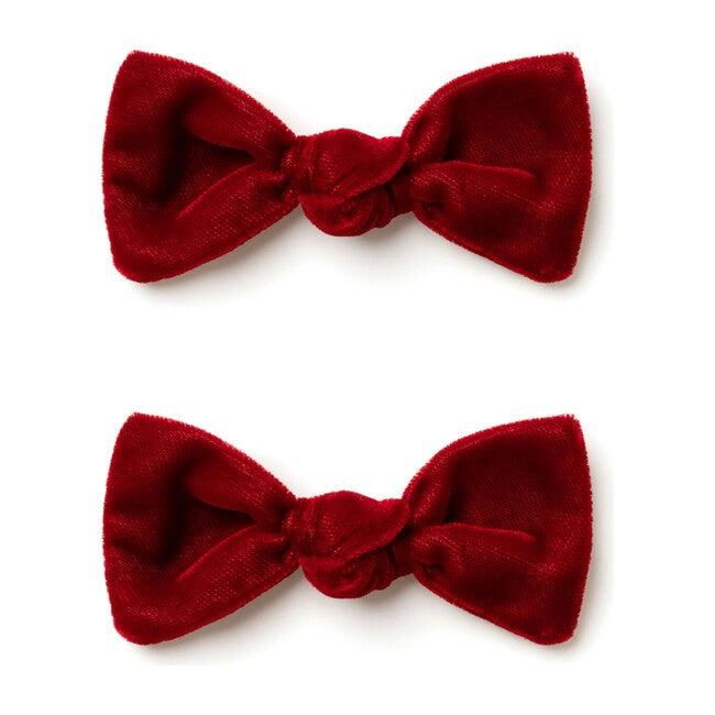 Mini Bow Set, Red Velvet