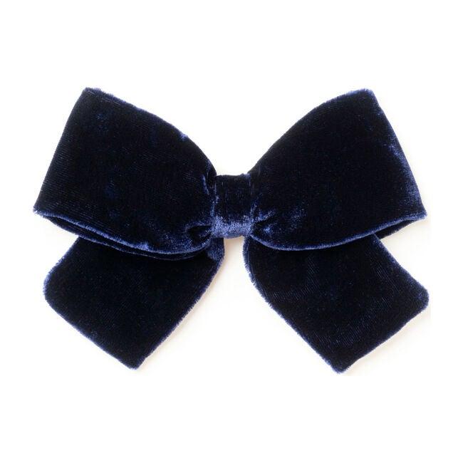 Cobalt Velvet Bow