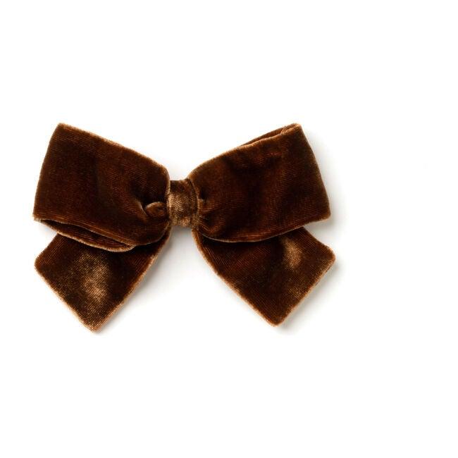 Brown Velvet Bow