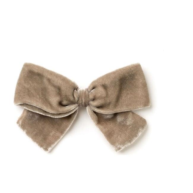 Cream Velvet Bow