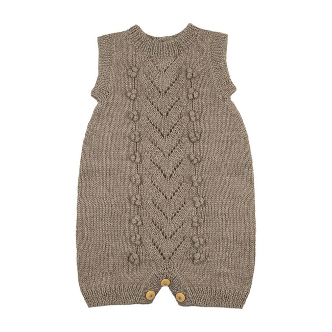 Knitted Romper, Taupe