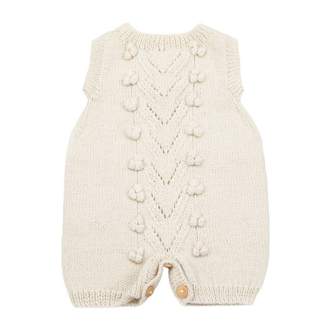 Knitted Romper, Cream