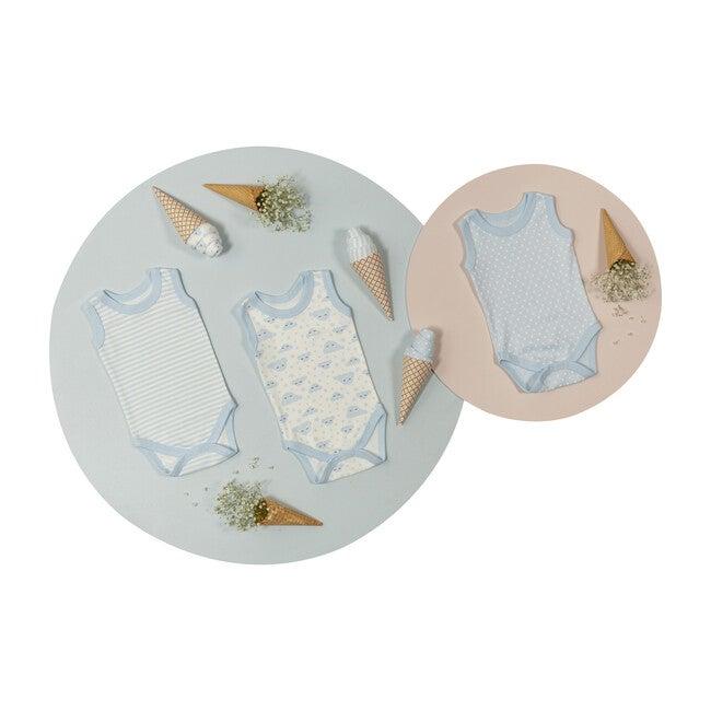 Patisserie Newborn Ice Cream Bodysuit Set (Set of 3), Blue