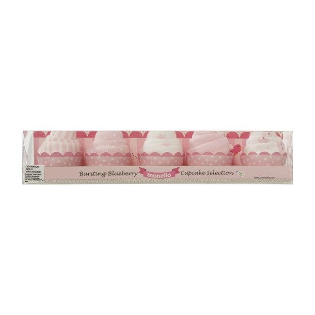 Patisserie 5-Pack Cupcake Baby Onesies, Pink