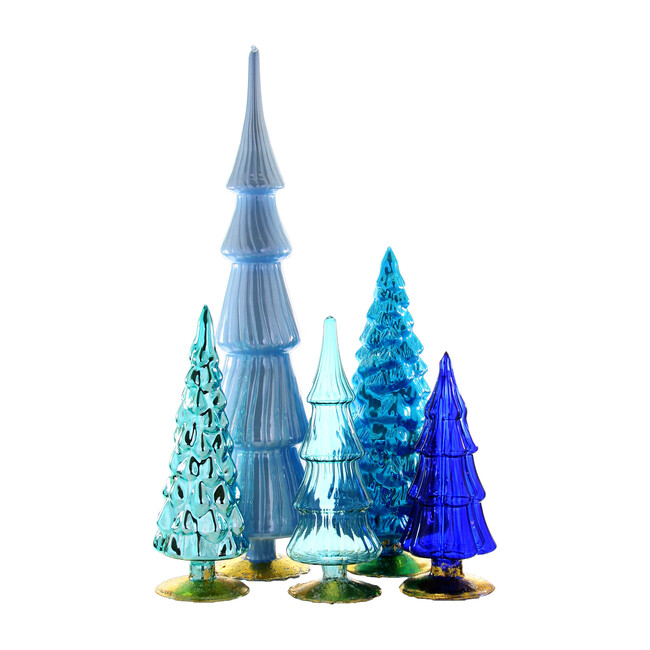 Hue Tree Set of 5, Blue