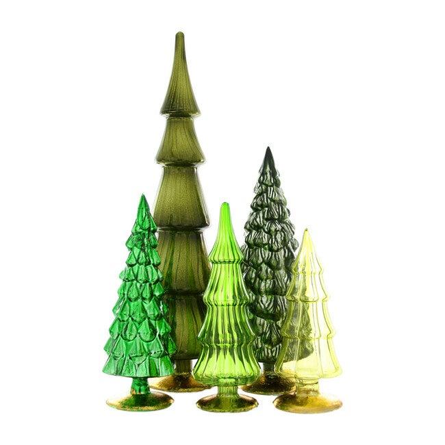 Hue Tree Set of 5, Green