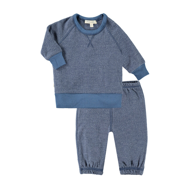 Baby Raglan Pullover and Sweat Set, Blue