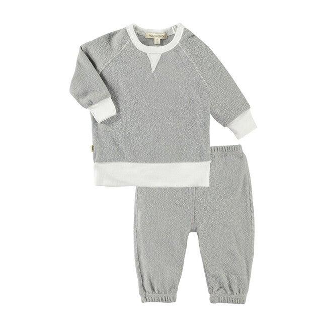 Baby Raglan Pullover and Sweat Set, Owl White