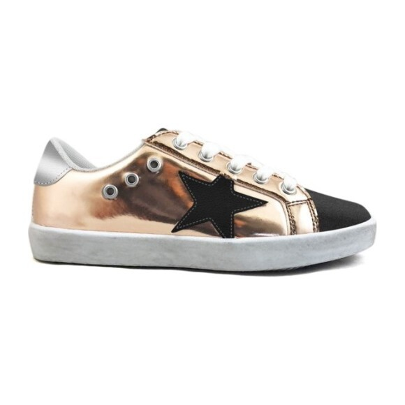 Mia Star Lace Sneaker, Rose Gold