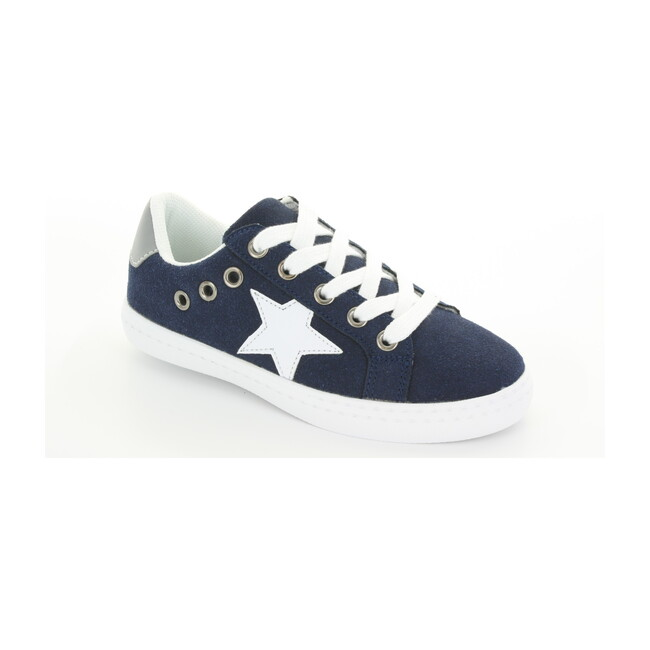 Mia Star Lace Sneaker, Navy Suede